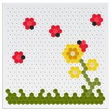 Mosaic Flowers and Ladybird Royalty Free Stock Photography