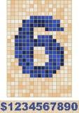 Mosaic Font Stock Photo