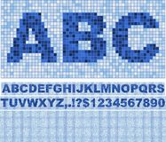 Mosaic Font. Stock Photography