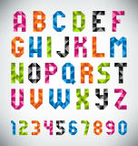 Mosaic Font Royalty Free Stock Images