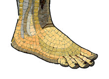 Mosaic Foot Stock Images
