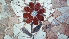 A mosaic In the form of a flower royalty free stock photography