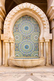 Mosaic and Fountain. Mosque of Hassan II , Casablanca , Morocco Stock Images