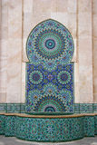 Mosaic and Fountain in Casablanca, Morocco royalty free stock photos