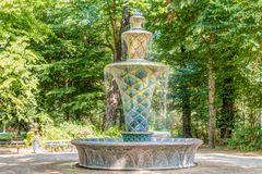 Mosaic fountain in Dresden Royalty Free Stock Image
