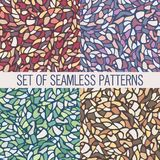 Mosaic of the four unique color patterns of abstract backgrounds Royalty Free Stock Photography
