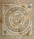 Mosaic fragment Roman Villa Royalty Free Stock Photos