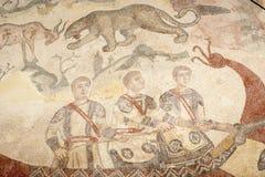 Mosaic fragment Roman Villa Romana del Casale, Sicily Stock Image