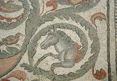 Mosaic fragment Roman Villa Romana del Casale, Sicily. UNESCO Wo Stock Images