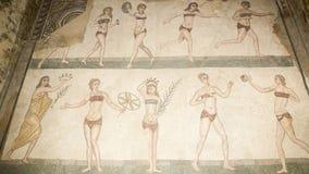 Mosaic fragment Roman Villa Romana del Casale, Sicily. UNESCO Wo Stock Photography