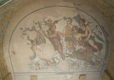 Mosaic fragment Roman Villa Romana del Casale, Sicily Stock Photo