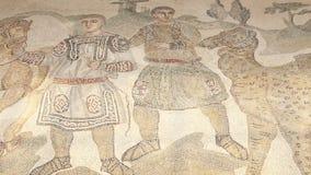 Mosaic fragment Roman Villa Romana del Casale, Sicily, UNESCO World Heritage Site