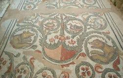 Mosaic fragment Roman Villa Romana del Casale, Sicily Stock Photography