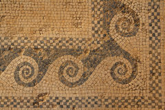 Mosaic fragment in the ruins of the ancient city of Morgantina Royalty Free Stock Image