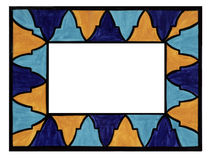 Mosaic Frame. Blue orange Stock Photo