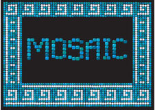 Mosaic frame (landscape) Royalty Free Stock Images