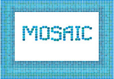 Mosaic frame (landscape) Royalty Free Stock Photography