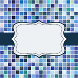 Mosaic frame place for text invitation Royalty Free Stock Photography