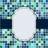 Mosaic frame place for text invitation Royalty Free Stock Photo