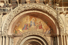 Mosaic fresco on  Cathedral Basilica,Venice Royalty Free Stock Image