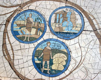 Mosaic in front of the church on the Mount of Beatitudes Stock Image