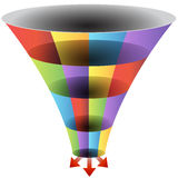 Mosaic Funnel Chart Set. An image of a mosaic 3d funnel chart Stock Photos