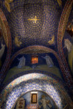 Mosaic of the galla placidia mausoleum in Ravenn royalty free stock photo