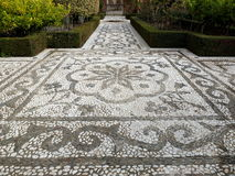 Alhambra Mosaic Garden Path Stock Images