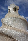 Mosaic Gaudi chimney sculpture Stock Photography