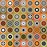 Mosaic gear. A mosaic consisting of gear of different color Stock Images