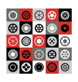 Mosaic of gear. A mosaic consisting of gear of different color Royalty Free Stock Photo