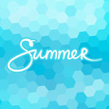 Mosaic Geometric Background with Text Summer Stock Images