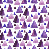 Mosaic geometric background. Watercolor seamless pattern. Mosaic geometric background. Hand drawn pattern. Modern abstract wallpaper royalty free illustration