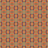 Mosaic geometric pattern in repeat. Fabric print. Seamless background, mosaic ornament, ethnic style. Design for prints on fabrics, textile, covers, paper Stock Photos