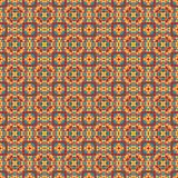 Mosaic geometric pattern in repeat. Fabric print. Seamless background, mosaic ornament, ethnic style. Design for prints on fabrics, textile, covers, paper Royalty Free Stock Photos