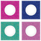 Mosaic geometric round frame backgrounds. Stock Photography