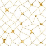 Mosaic geometric seamless pattern 3D gold white 2. Mosaic geometric seamless pattern 3D. Gold glitter white template. Abstract texture Golden luxury prints Stock Images