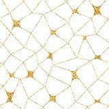 Mosaic geometric seamless pattern 3D gold white 2 Stock Images