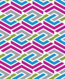 Mosaic geometric seamless pattern, parallel lines Stock Image