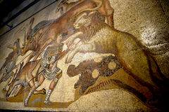 Mosaic of Gladiators in the Galleria Borghese Rome Italy Royalty Free Stock Image