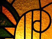Mosaic glass art nouveau style background. Abstract background of colorful mosaic glass with lights - art nouveau style Stock Photo