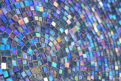 Mosaic Glass Path. A beautiful platter of glass mosaic pattern. Colorful pieces of green, blue, red, amber and pink Stock Images