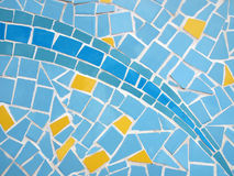 Mosaic glass wall texture Royalty Free Stock Photo