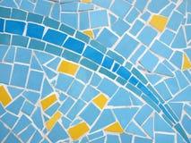 Mosaic glass wall texture Royalty Free Stock Photo
