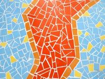 Mosaic glass wall texture Royalty Free Stock Image