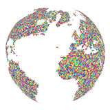 Mosaic Globe isolated on white background. Abstract business Ico Royalty Free Stock Photo