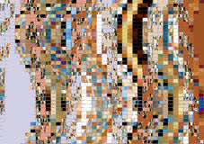 Mosaic gold and brown background Stock Photography