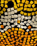 Mosaic. A mosaic of gold and silver pieces Royalty Free Stock Photo