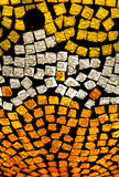 Mosaic. A mosaic of gold and silver pieces on black background Stock Photos