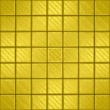 Mosaic with gold squarres Stock Photo